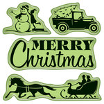 Inkadinkado - Holiday Village Collection - Christmas - Inkadinkaclings - Rubber Stamps - Village Lifestyle
