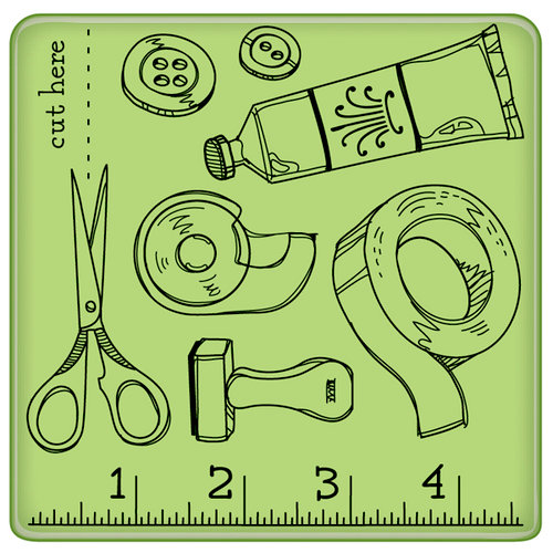 Inkadinkado - Spring Collection - Inkadinkaclings - Rubber Stamps - Craft Room Pattern