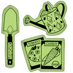 Inkadinkado - Spring Collection - Inkadinkaclings - Rubber Stamps - Garden Veggie Icons