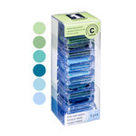Inkadinkado - Stackables - Chalk Inkpad Set - Blues and Greens