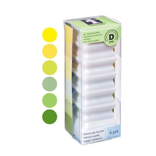 Inkadinkado - Stackables - Dye Inkpad Set - Greens and Yellows