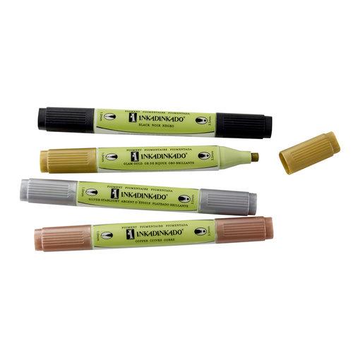 Inkadinkado - Stamping Marker Set - Pigment - Metallics