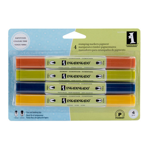 Inkadinkado - Stamping Marker Set - Pigment - Earthtones