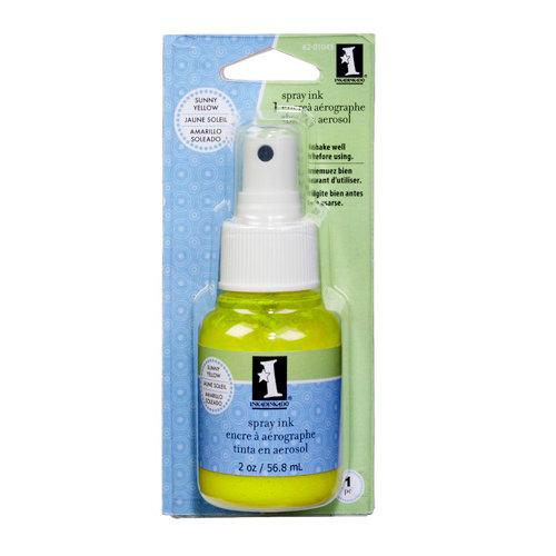 Inkadinkado - Spray Ink - 2 Ounce Bottle - Sunny Yellow