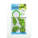 Inkadinkado - Stamping Gear Collection - Inkadinkaclings - Rubber Stamps - Typographic