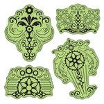 Inkadinkado - Stamping Gear Collection - Inkadinkaclings - Rubber Stamps - Vintage Parts