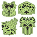 Inkadinkado - Stamping Gear Collection - Inkadinkaclings - Rubber Stamps - Far East