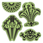 Inkadinkado - Stamping Gear Collection - Inkadinkaclings - Rubber Stamps - Fun Circus Party
