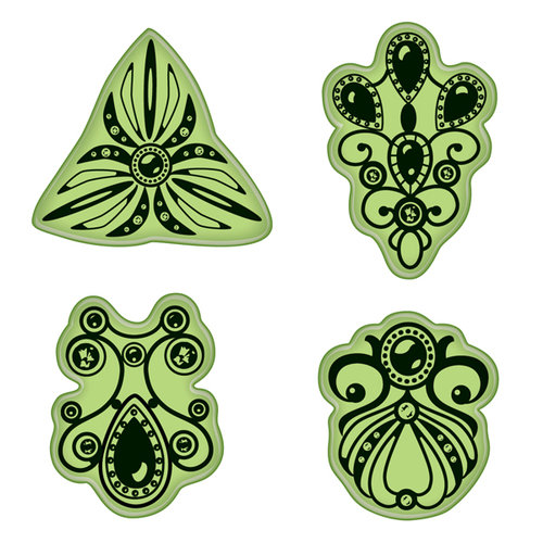 Inkadinkado - Stamping Gear Collection - Inkadinkaclings - Rubber Stamps - Jewelry