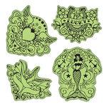Inkadinkado - Stamping Gear Collection - Inkadinkaclings - Rubber Stamps - Vintage Tattoos