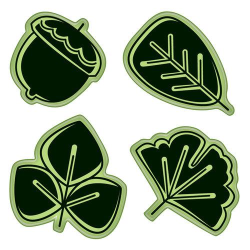 Inkadinkado - Stamping Gear Collection - Inkadinkaclings - Rubber Stamps - Modern Leaf
