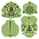 Inkadinkado - Stamping Gear Collection - Inkadinkaclings - Rubber Stamps - Folk Winter