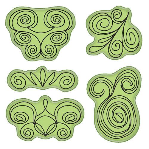 Inkadinkado - Stamping Gear Collection - Inkadinkaclings - Rubber Stamps - Doodle Swirls