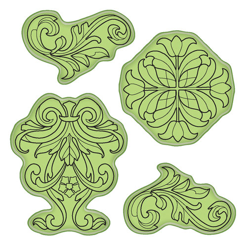 Inkadinkado - Stamping Gear Collection - Inkadinkaclings - Rubber Stamps - Classic Ornaments
