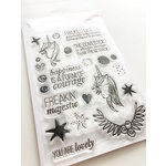 Ink Road Stamps - Clear Photopolymer Stamps - Majestic AF