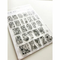 Ink Road Stamps - Clear Photopolymer Stamps - Daisie Floral Alpha