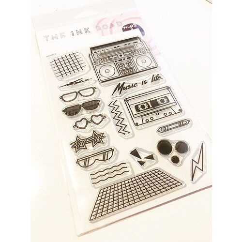 Ink Road Stamps - Clear Photopolymer Stamps - Boombox