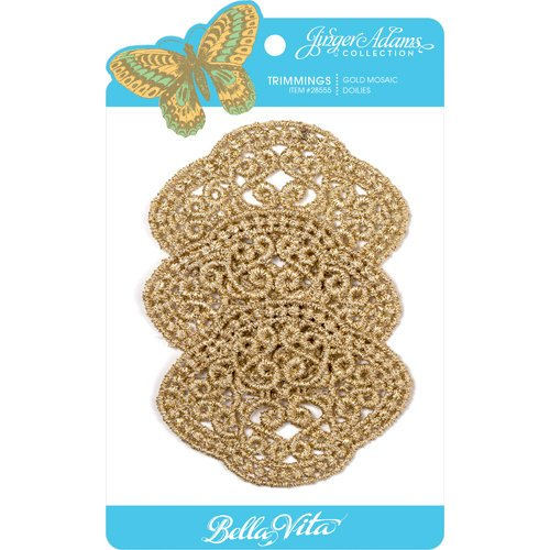Jinger Adams - Bella Vita Collection - Gold Mosaic Doilies