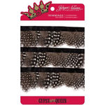 Jinger Adams - Gypsy Queen Collection - Feather Plumes - Black and White