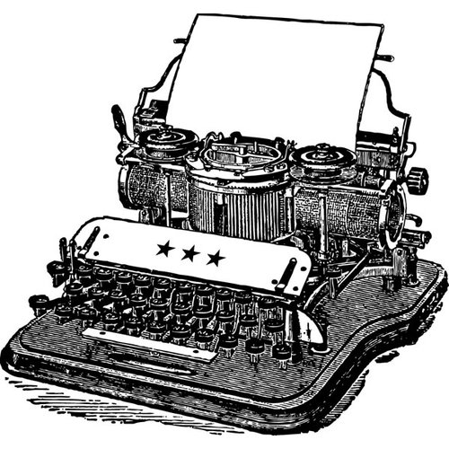 Jenni Bowlin Studio - Clear Acrylic Stamps - Typewriter