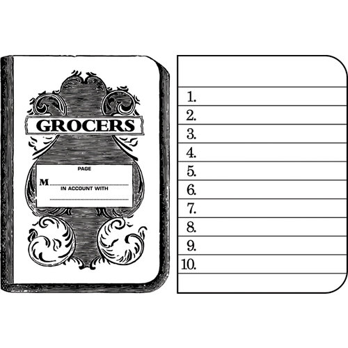 Jenni Bowlin Studio - Clear Acrylic Stamps - Grocers List