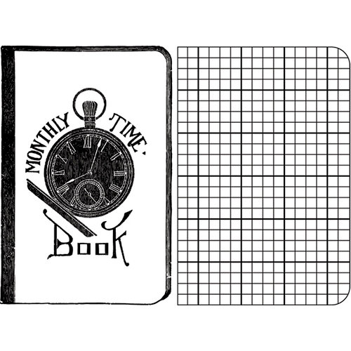 Jenni Bowlin Studio - Clear Acrylic Stamps - Time Book