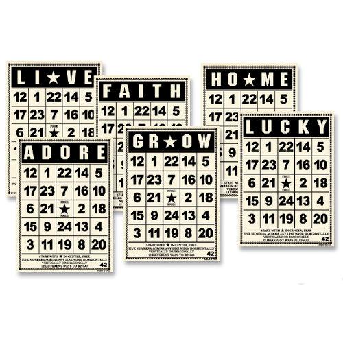 Jenni Bowlin Studio - Mini Bingo Cards - Vintage