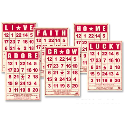 Jenni Bowlin Studio - Mini Bingo Cards - Red