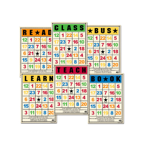 Jenni Bowlin Studio - Mini Bingo Cards - School Days, CLEARANCE