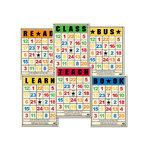 Jenni Bowlin Studio - Mini Bingo Cards - School Days, CLEARANCE