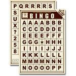 Jenni Bowlin Studio - Bingo Card Alphabet Tiles - Brown, CLEARANCE