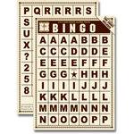 Jenni Bowlin Studio - Bingo Card Alphabet Tiles - Brown, CLEARANCE