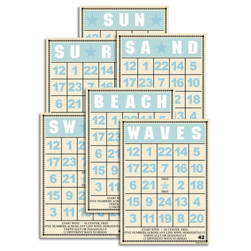 Jenni Bowlin Studio - Mini Bingo Cards - Beach