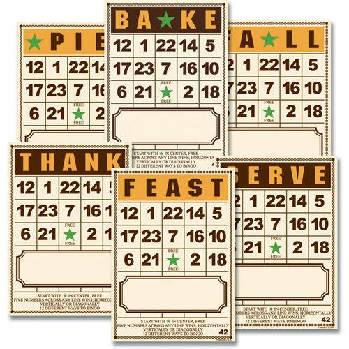 Jenni Bowlin Studio - Bingo Place Cards - Thanksgiving