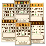 Jenni Bowlin Studio - Bingo Place Cards - Thanksgiving