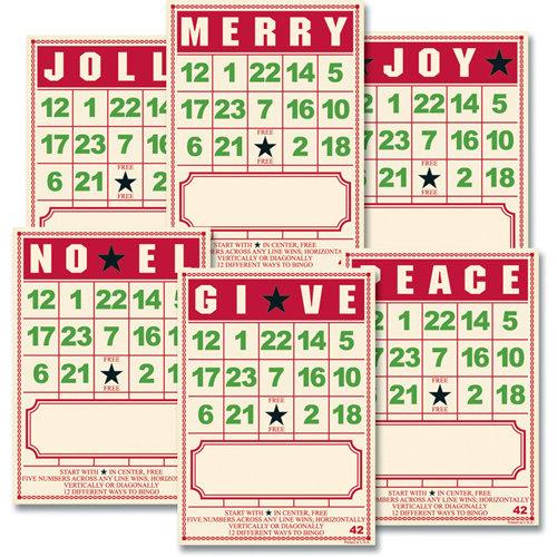 Jenni Bowlin Studio - Bingo Place Cards - Christmas