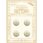 Jenni Bowlin Studio - Rhinetone Button Card - Clear, CLEARANCE