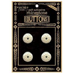 Jenni Bowlin Studio - Rhinetone Button Card - Black, CLEARANCE