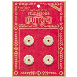 Jenni Bowlin Studio - Rhinetone Button Card - Red, CLEARANCE