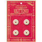 Jenni Bowlin Studio - Rhinetone Button Card - Red, CLEARANCE
