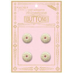 Jenni Bowlin Studio - Rhinetone Button Card - Pink, CLEARANCE