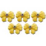 Jenni Bowlin Studio - Self Adhesive Rhinestone Bow Embellishments - Yellow
