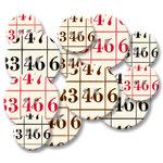 Jenni Bowlin Studio - Chipboard Buttons - Bingo, CLEARANCE
