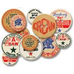 Jenni Bowlin Studio - Chipboard Buttons - Milk Caps