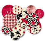 Jenni Bowlin Studio - Chipboard Buttons - Red Line