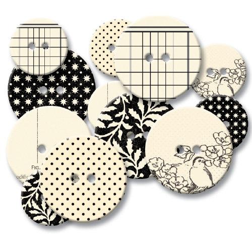 Jenni Bowlin Studio - Chipboard Buttons - Black Line