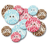 Jenni Bowlin Studio - Chipboard Buttons - Wallpaper, CLEARANCE