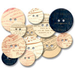 Jenni Bowlin Studio - Chipboard Buttons - Photographers Mark , CLEARANCE