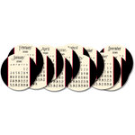 Jenni Bowlin Studio - 2010 Die Cut Circle Calendar Cards - 6 x 6