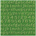 Jenni Bowlin Studio - Core'dinations - Vintage Collection - 12 x 12 Embossed Color Core Cardstock - Asparagus Alphabet